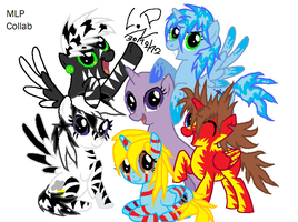 MLP Collab - Me and my new friends by LonicHedgehog