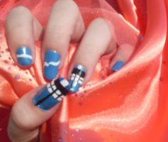 TARDIS Nail Art by MissDaniLips