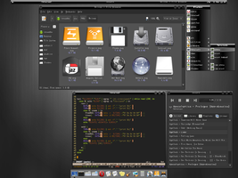 blackened fluxbox theme by vermaden