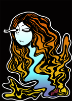 Psychedelic Lady by Kuraibe-Keishi