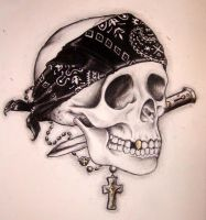 Gangsta Skull by TheBlackRabbit
