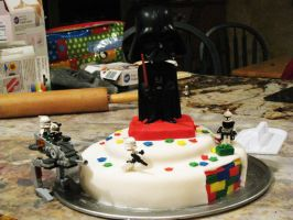 LEGO Star Wars Cake by instantpudding