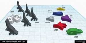 Starships and Meeples - Mass Effect by jeffmcdowalldesign