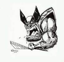 Wolverine dirty drawing by Dinuguan
