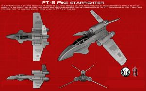 FT-6 Pike starfighter ortho [New] by unusualsuspex