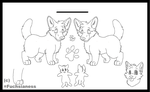 Dog Lineart .:DOWNLOAD TO USE:. by Fuchsianess