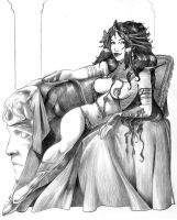 Dejah Thoris sketch 3 by Fredgri