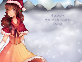 Happy 1st Anniversary Sora! + MERRY APPEND VB DL by RageyNoodles