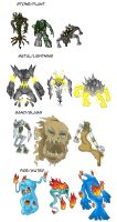 Random golems by Cubed1