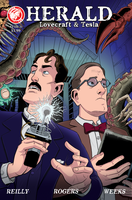 Herald: Lovecraft and Tesla issue 01 cover by mistermuck
