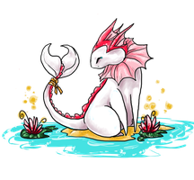 The Albino Vaporeon by Bean-Sprouts