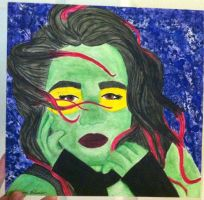 Water Color 2- Gamora by QueenoftheLemurs