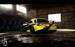 . . Mazda Rx7 Time attack . . by j4y-0n3