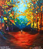 Painting on Wall of Morning Mood by Leonid Afremov by MountainHippie