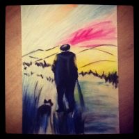 Man and his dog by Super-Midget