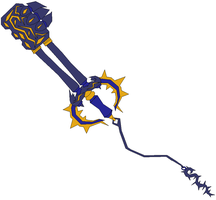 Rumbling Crest KeyBlade by jesse-anime