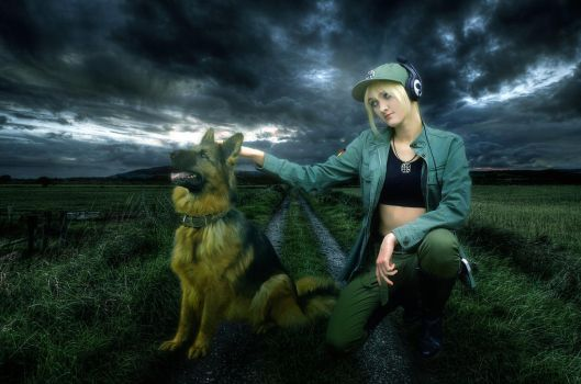 Hetalia - Nyo Germany - Lady and her Shepard by SovietMentality