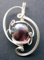 Glass Orb Sculpted Pendant by KarissaDesigns