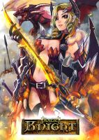 Magic Knight: Ixiria the Wyrmborn Lv3 by PursuerOfDarkness