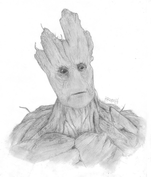 I am Groot by Brzozan