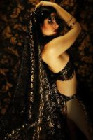 Black and Gold Bride by SindelChaos