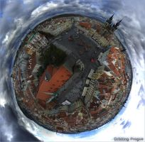 Orbiting Prague by Graphica