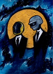 Daft Punk in Space by 42Spectre