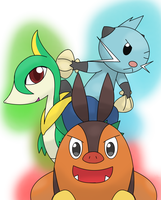 Unova starter 2nd evolves by hoyeechun