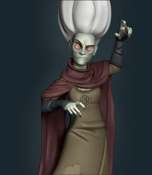 3D fan art of Randy Bishop Witch by Continum