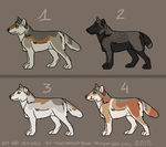 wolves adopts 5-CLOSED by TheDarkHyena