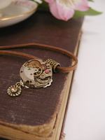 Steampunk Spring Necklace by GildedGears