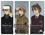 Commission: Historyman101 (Renton) outfits by colormymemory