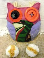Custom made owl cushion by moonwolf17