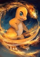 Commission for Charlymander: Charmander Fighter by eldrige