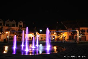Fountain in front of Trnava University by katarinaCakoi