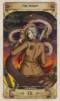 Cerebium Tarot 9 - The Hermit by Hedrick-CS