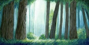 A Tranquil Forest Scene by rhinanan