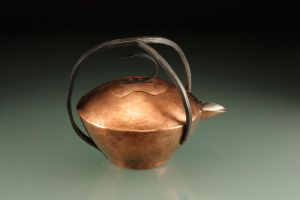Copper and Steel Teapot Side by chinchilakid