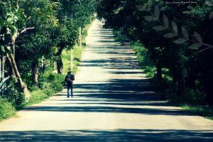 the road by ravivarma