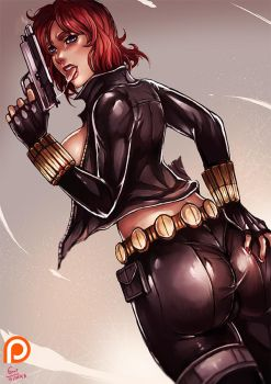 PT :  Black Widow [natasha romanoff] by kachima