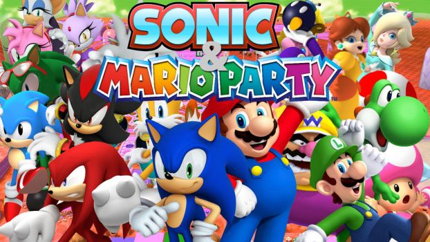 Sonic and Mario Party! (Or Shuffle Party) by KaiWalkerHere