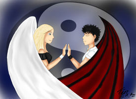 Angel and Damon by Juna8789