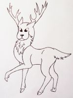 Reindeer - Outlines by LonlyAntelope
