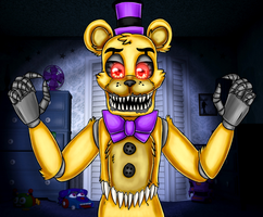 Nightmare Fredbear (five Nights at Freddy's 4) by ArtyJoyful