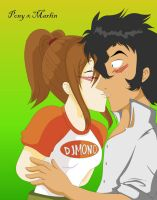 Just a little kissy by Albels-wish