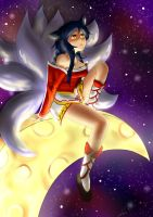 Ahri - Watching the Stars by KittyDJuli