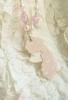 Pink Star Poodle Necklace by Nika-N