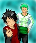 Zoro and Luffy for Plushie by Momoku