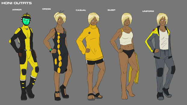 Honi Outfit concepts by ScottaHemi