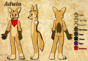 Fursona Reffrence - Adwin by blackphantom1412